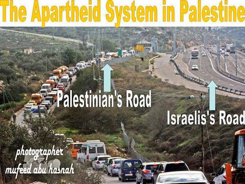 Image result for apartheid Israel jews only road